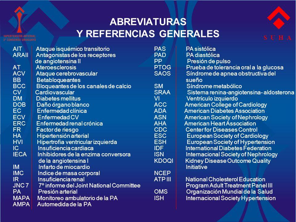 ABREVIATURAS Y REFERENCIAS GENERALES