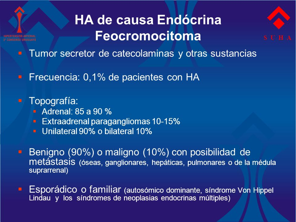 HA de causa Endócrina Feocromocitoma