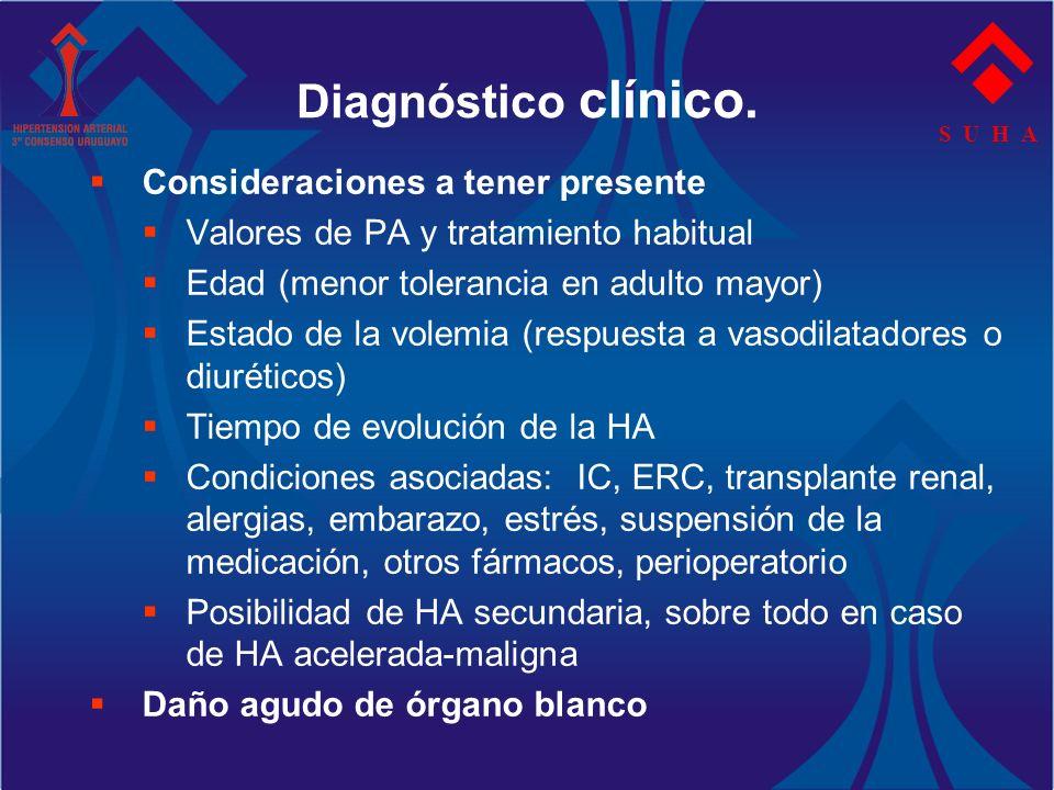 Diagnóstico clínico. Consideraciones a tener presente