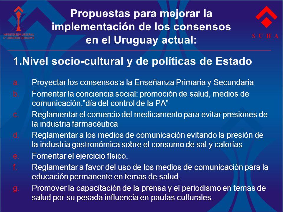 1.Nivel socio-cultural y de políticas de Estado