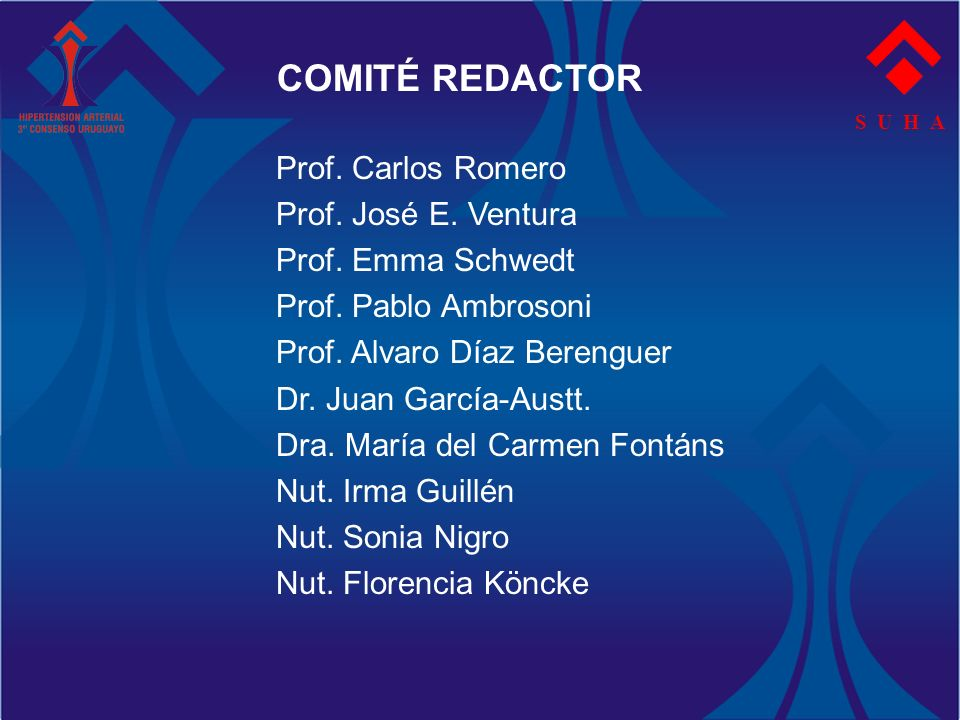 COMITÉ REDACTOR Prof. Carlos Romero Prof. José E. Ventura