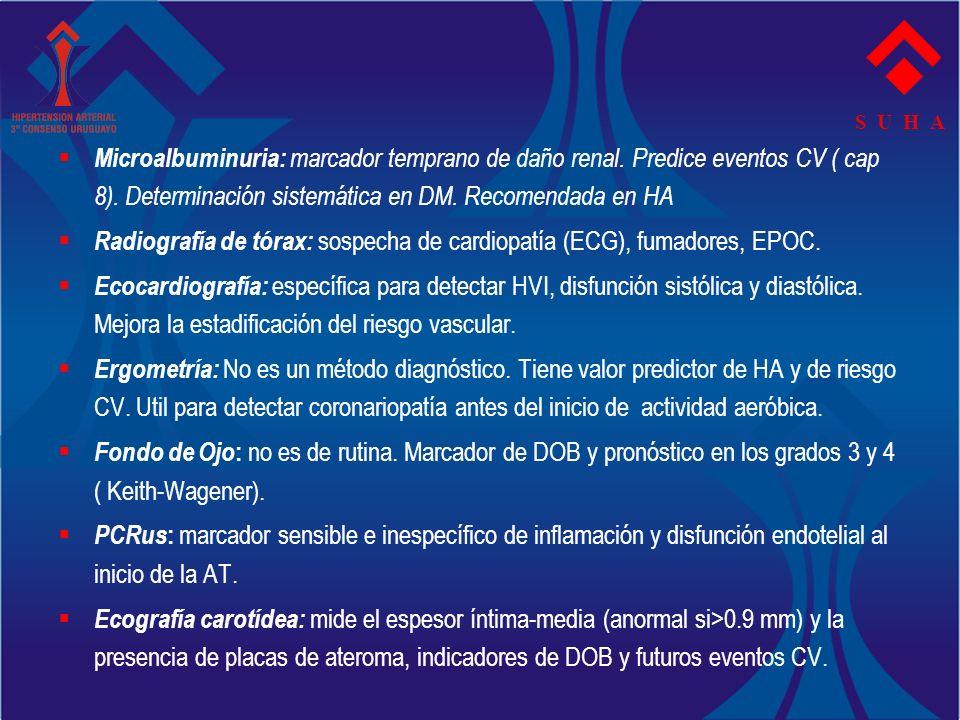 Radiografía de tórax: sospecha de cardiopatía (ECG), fumadores, EPOC.