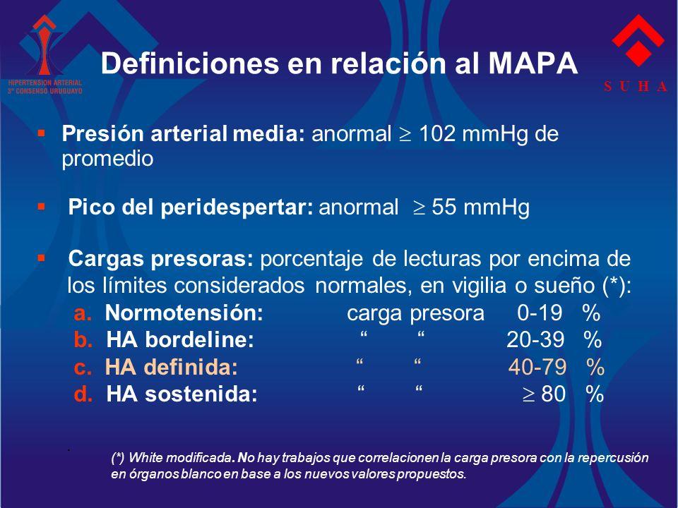 Definiciones en relación al MAPA