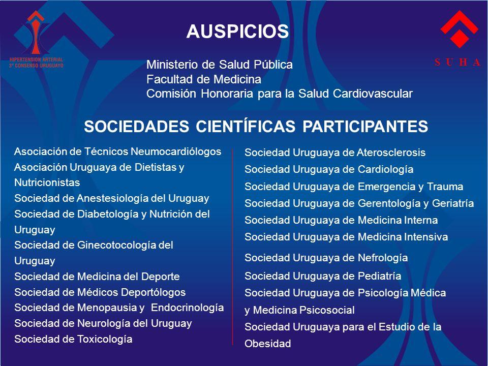 AUSPICIOS SOCIEDADES CIENTÍFICAS PARTICIPANTES
