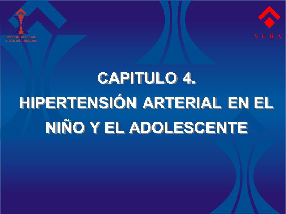 CAPITULO 4. HIPERTENSIÓN ARTERIAL EN EL NIÑO Y EL ADOLESCENTE