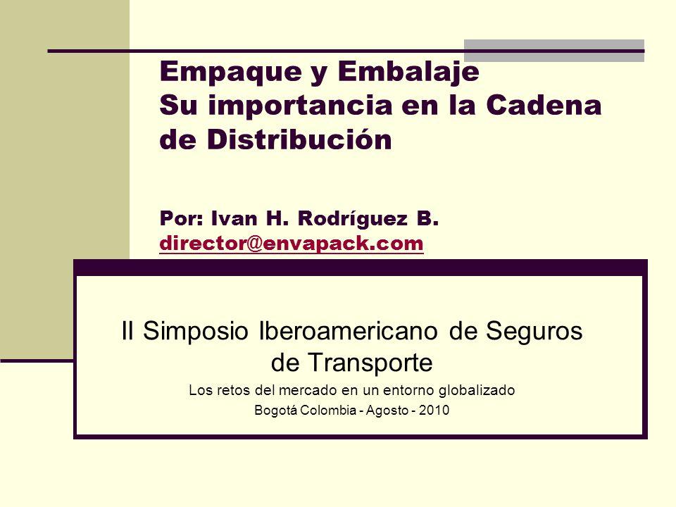 Empaque y Embalaje Su importancia en la Cadena de Distribución Por: Ivan H. Rodríguez B. director@envapack.com