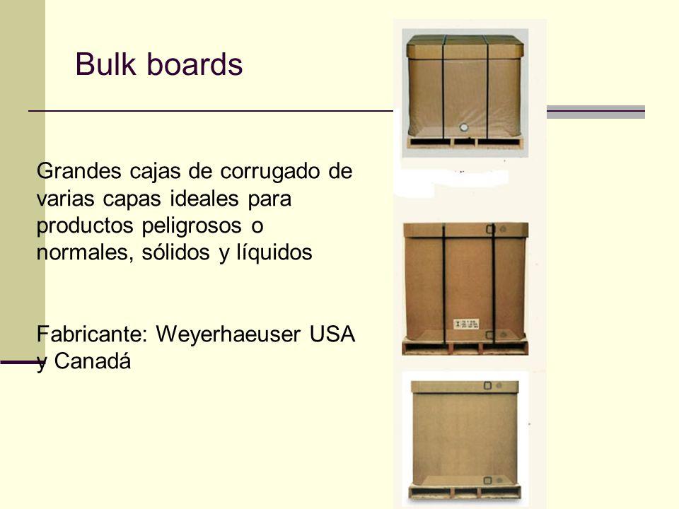Bulk boards Grandes cajas de corrugado de varias capas ideales para productos peligrosos o normales, sólidos y líquidos.
