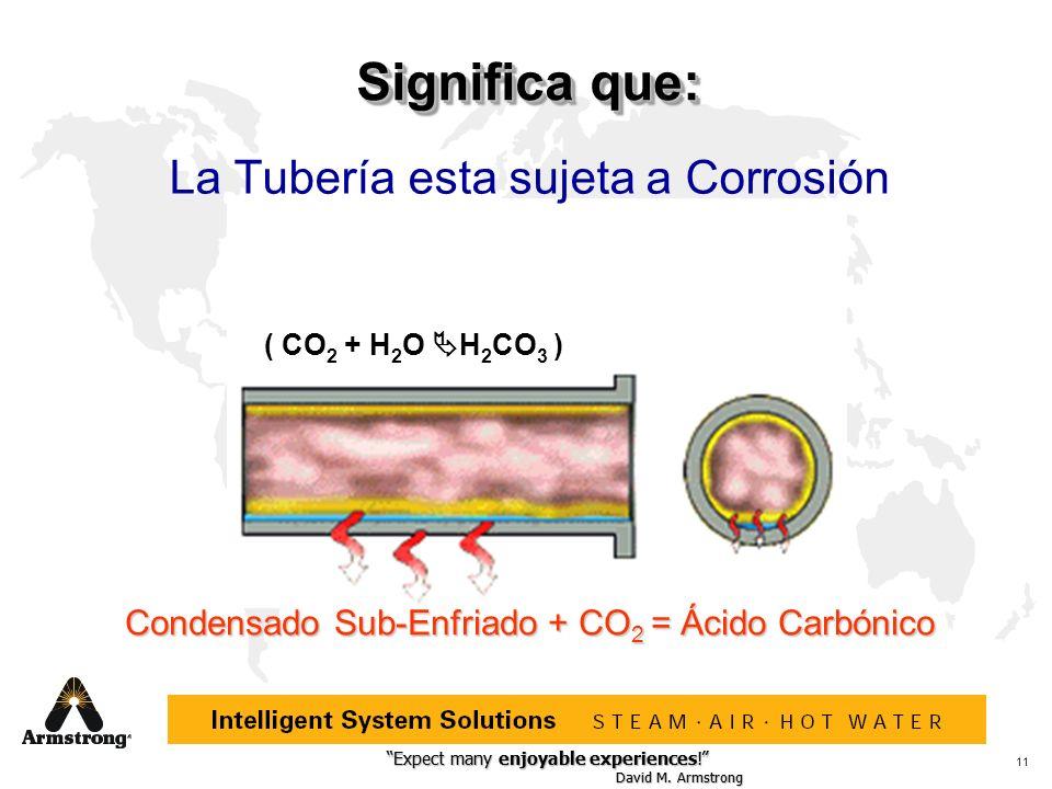 Significa que: La Tubería esta sujeta a Corrosión