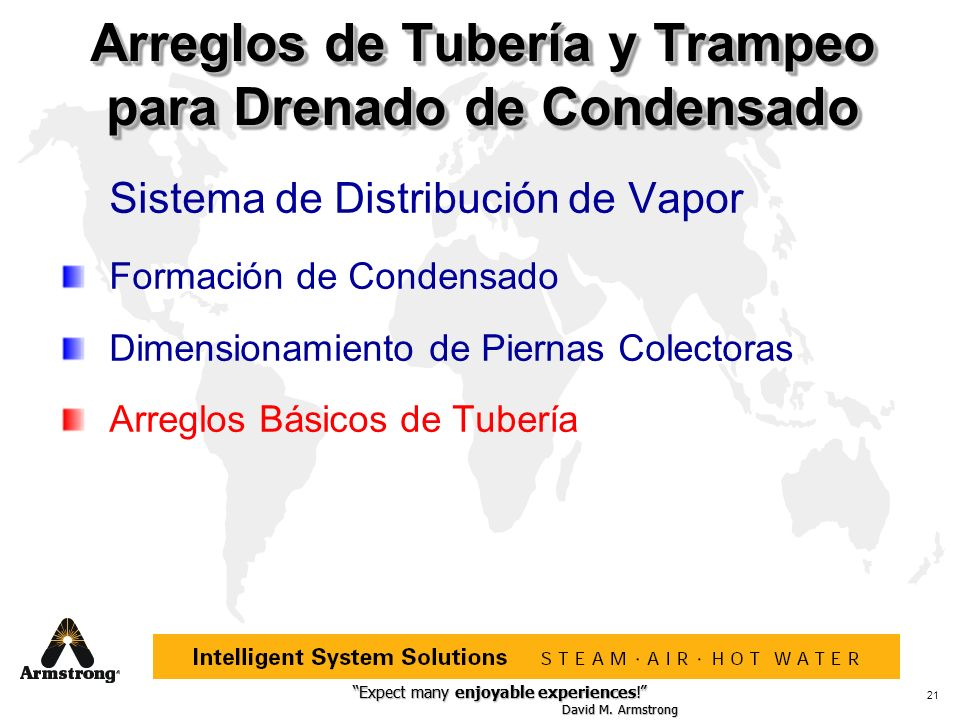 Arreglos de Tubería y Trampeo para Drenado de Condensado