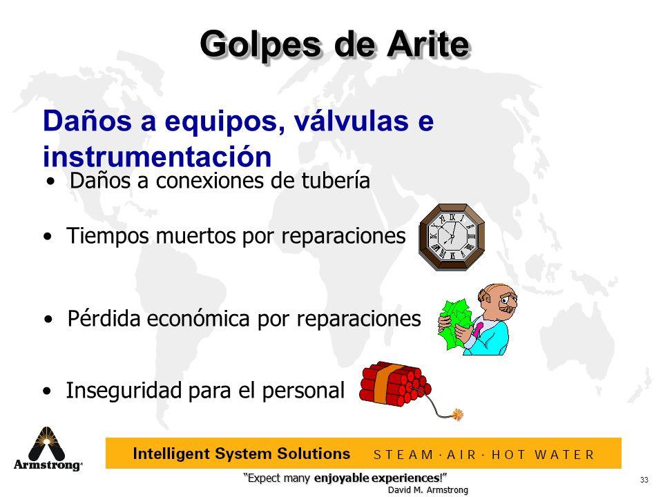 Golpes de Arite Daños a equipos, válvulas e instrumentación
