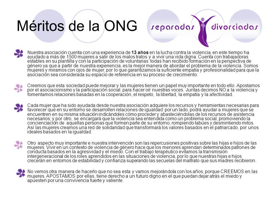 Méritos de la ONG
