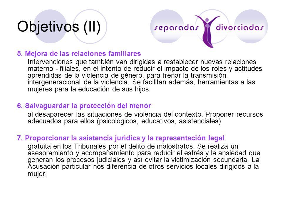 Objetivos (II) 5. Mejora de las relaciones familiares