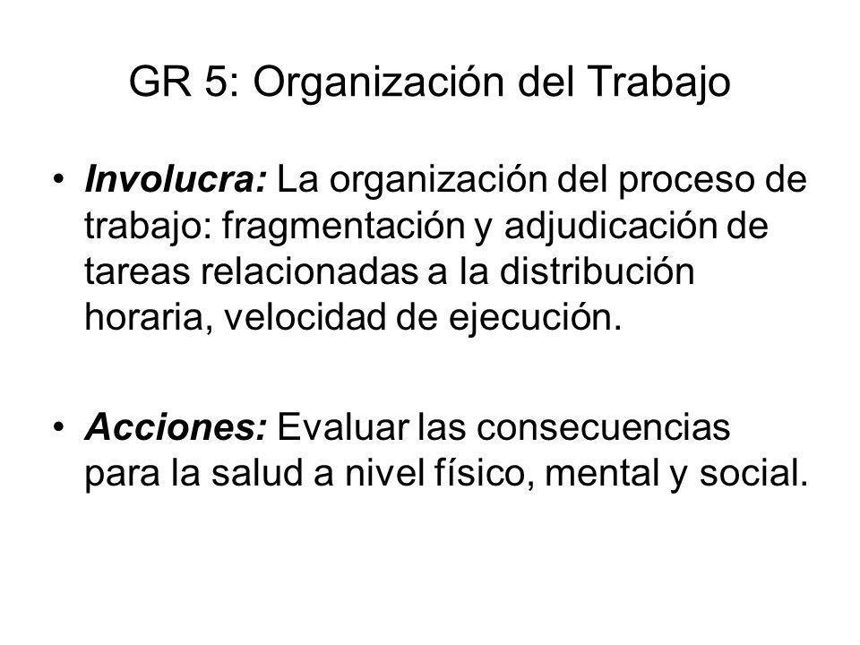 GR 5: Organización del Trabajo
