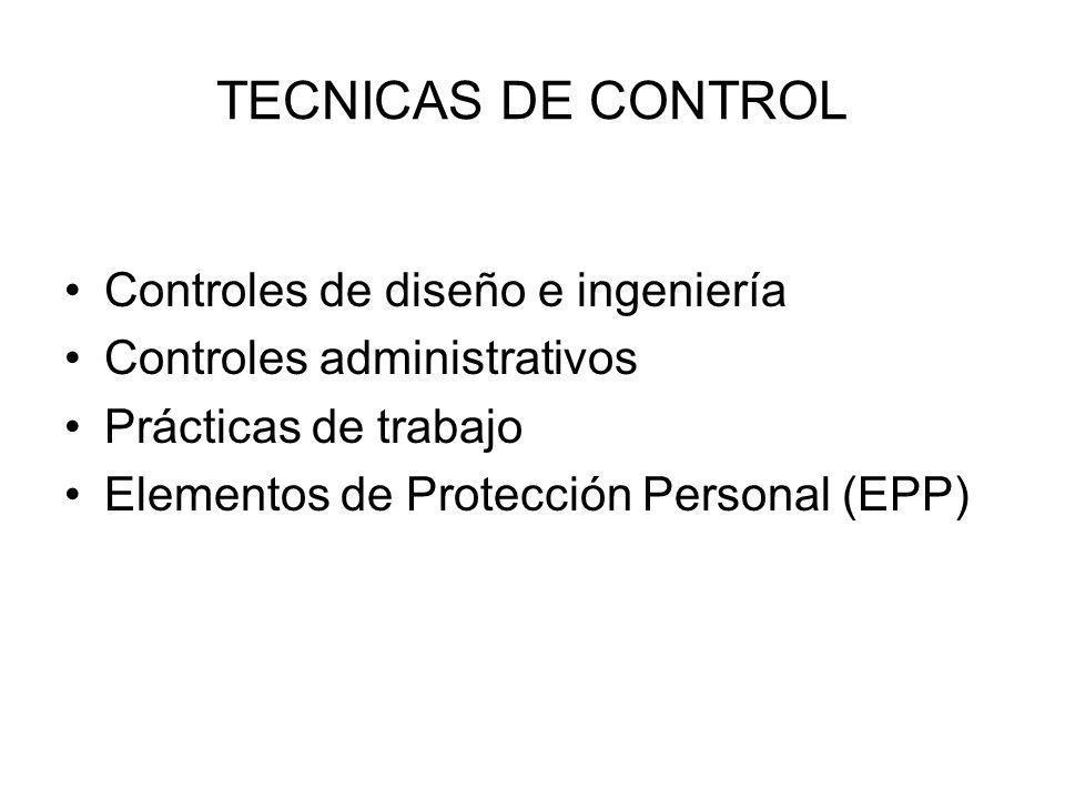 TECNICAS DE CONTROL Controles de diseño e ingeniería