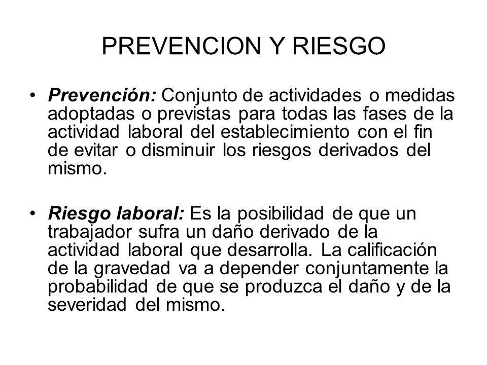 PREVENCION Y RIESGO
