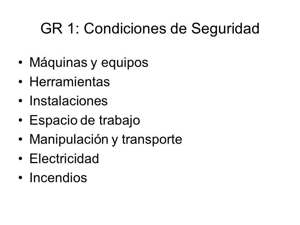 GR 1: Condiciones de Seguridad