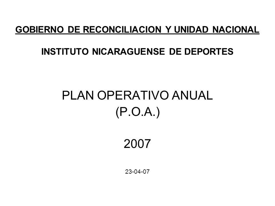 PLAN OPERATIVO ANUAL (P.O.A.) 2007 23-04-07