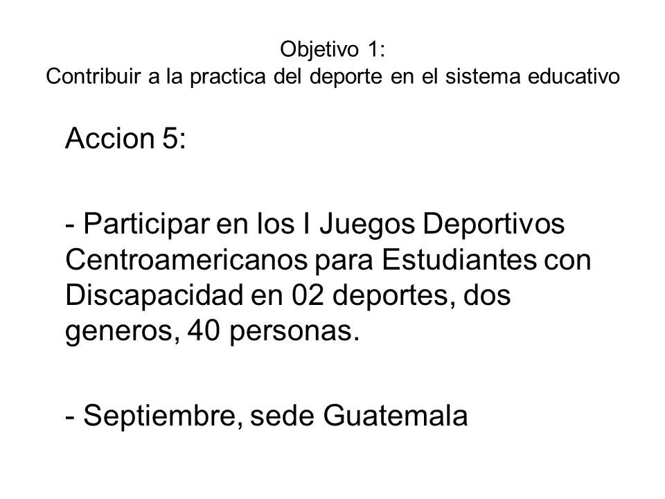 - Septiembre, sede Guatemala