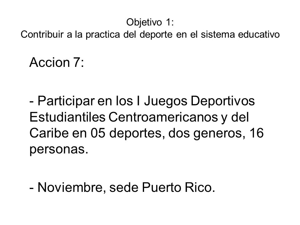 - Noviembre, sede Puerto Rico.