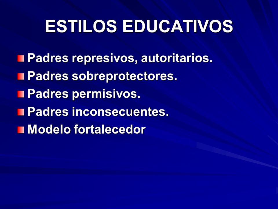 ESTILOS EDUCATIVOS Padres represivos, autoritarios.