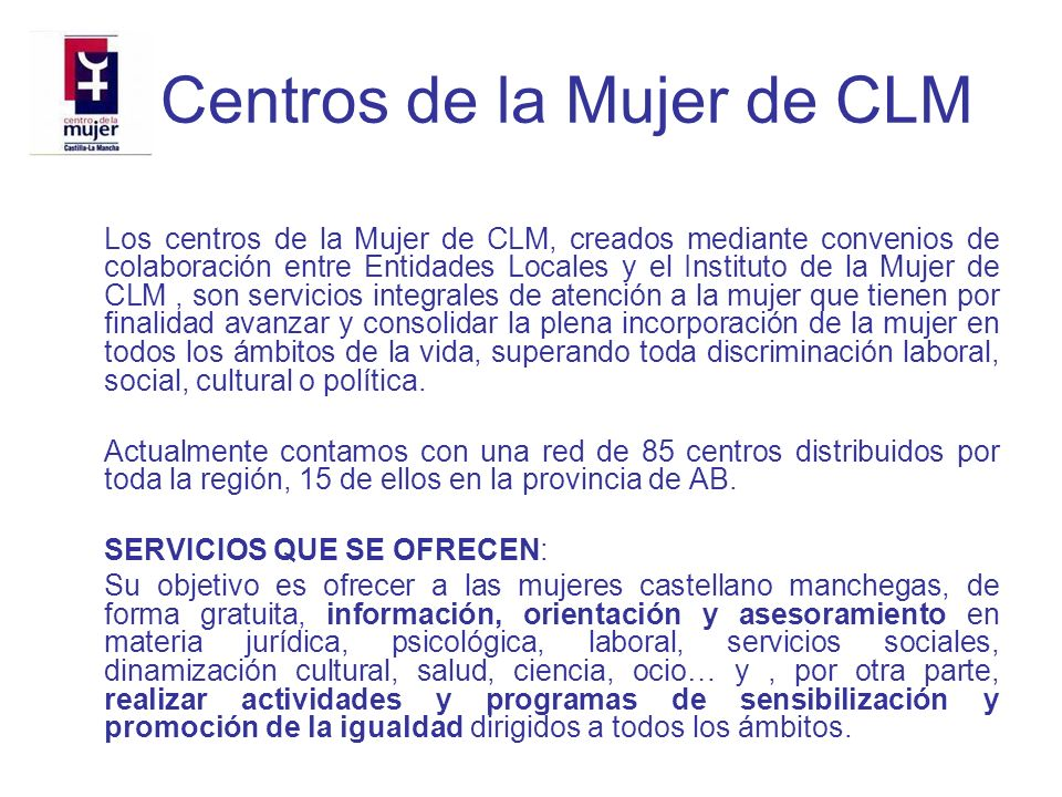 Centros de la Mujer de CLM