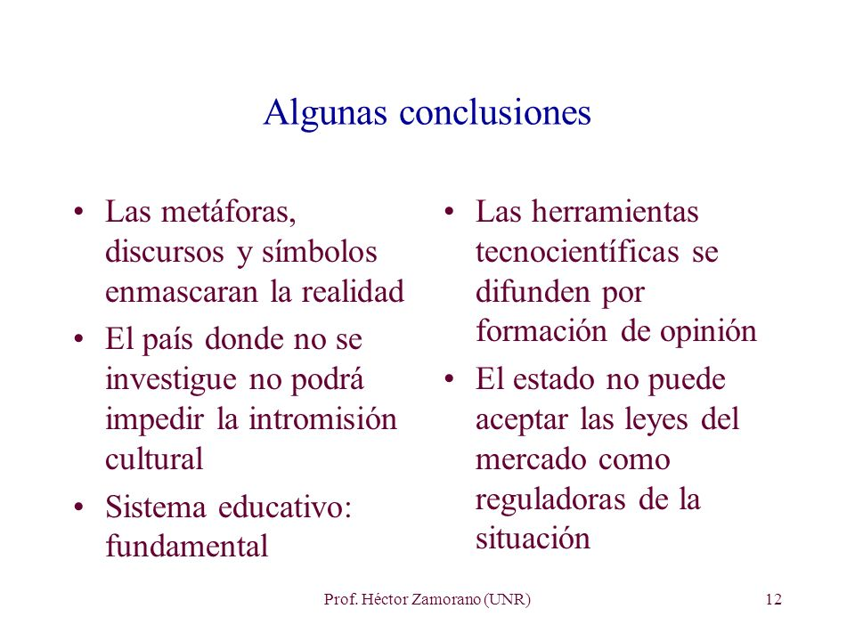 Prof. Héctor Zamorano (UNR)