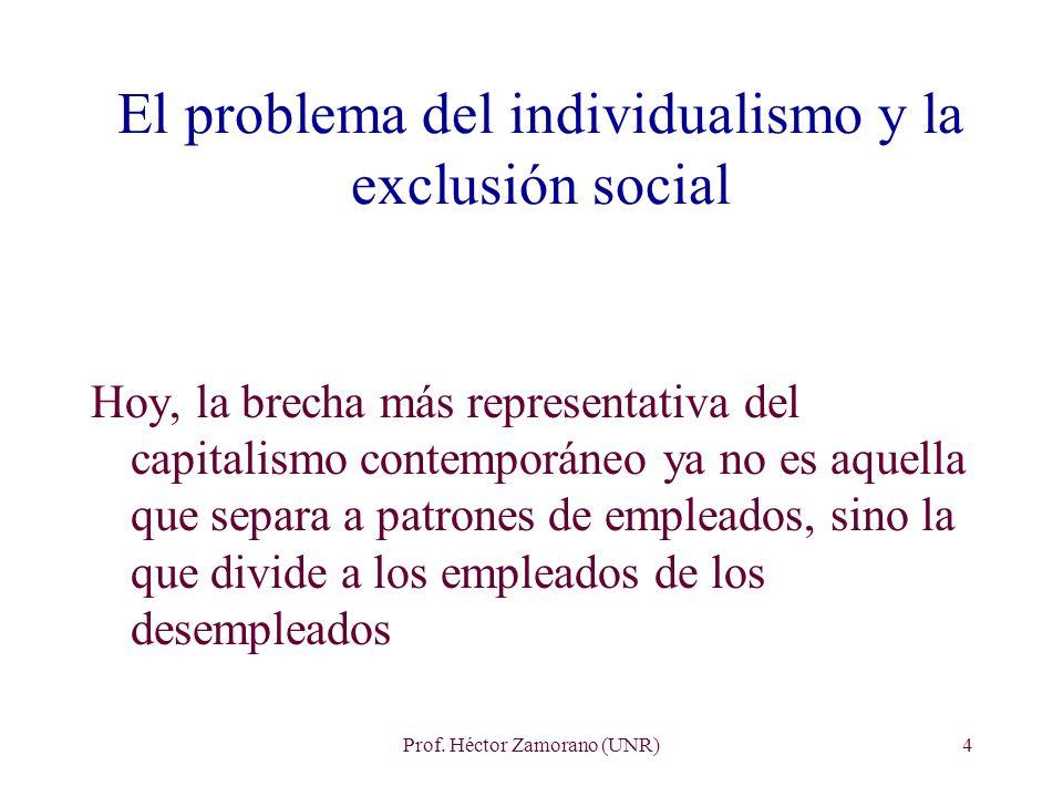 El problema del individualismo y la exclusión social