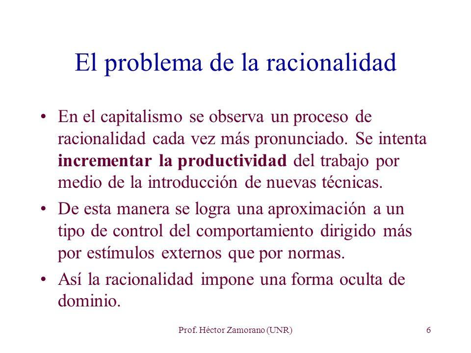 El problema de la racionalidad