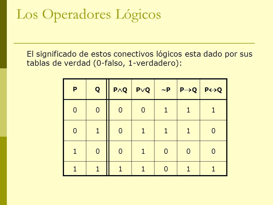 Los Operadores Lógicos