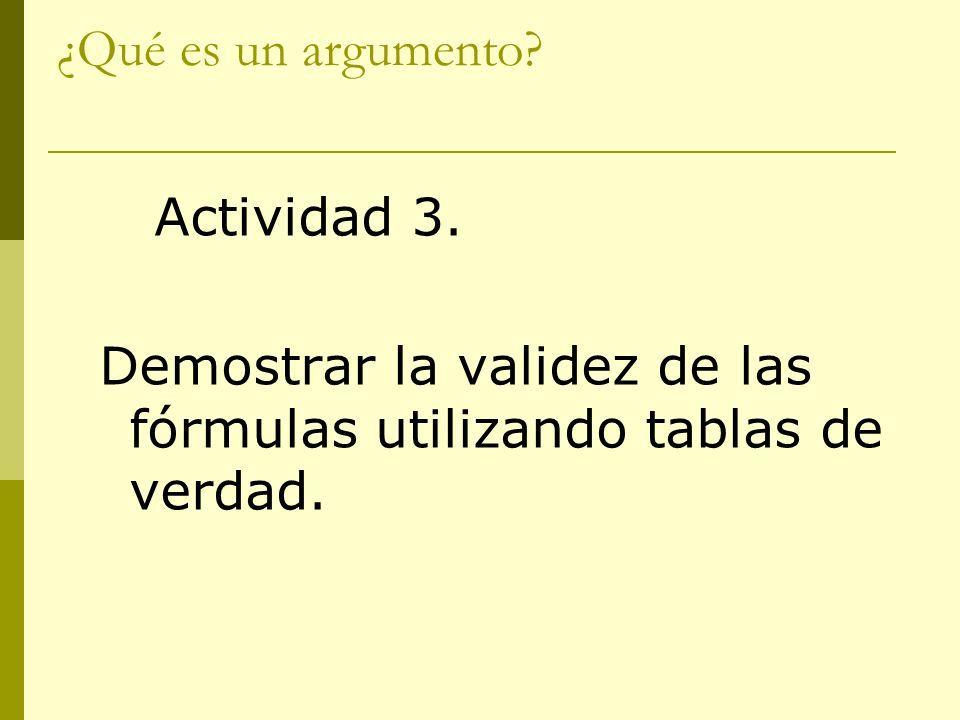 ¿Qué es un argumento Actividad 3.