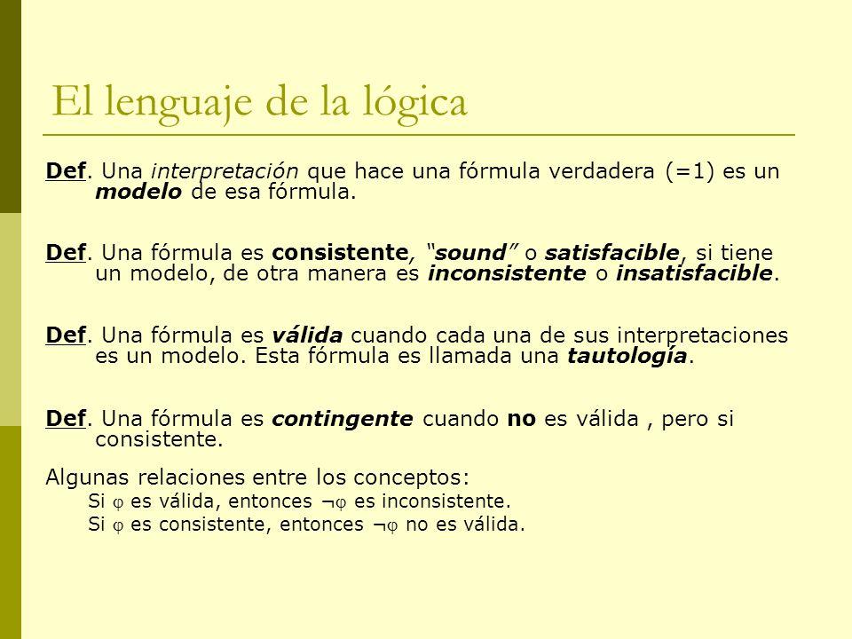 El lenguaje de la lógica