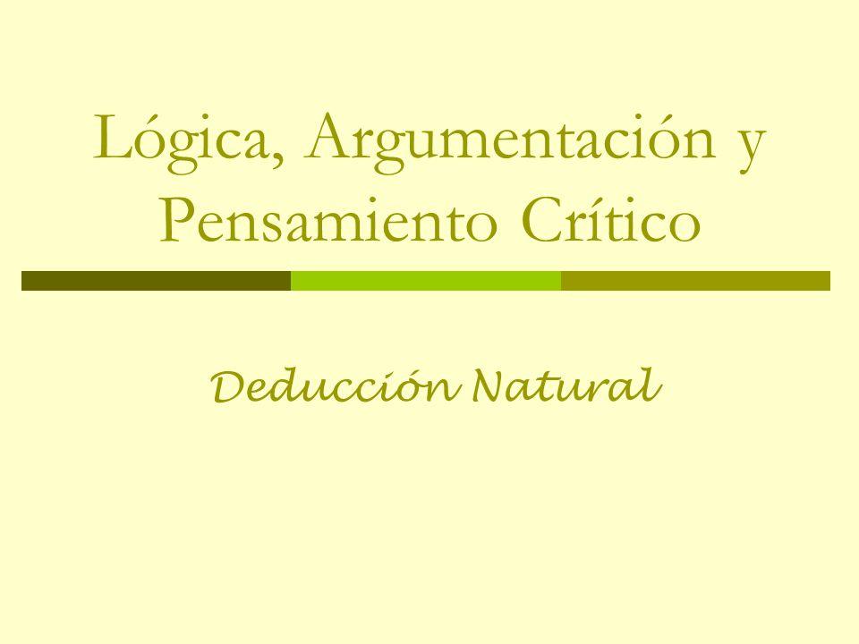 Lógica, Argumentación y Pensamiento Crítico