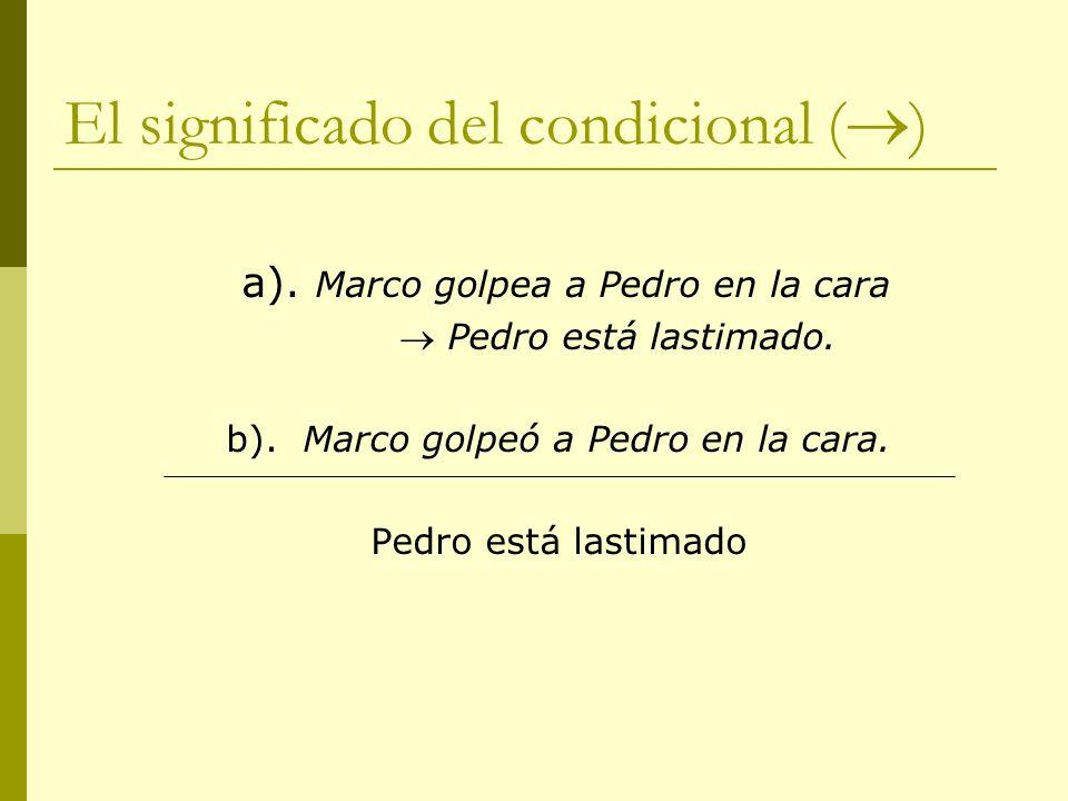 El significado del condicional ()