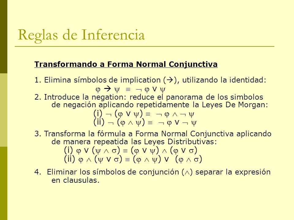 Reglas de Inferencia (ii)  (  )    v  