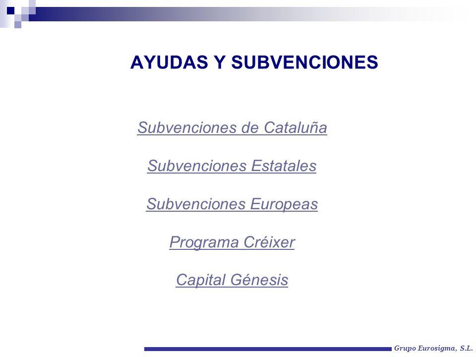AYUDAS Y SUBVENCIONES Subvenciones de Cataluña Subvenciones Estatales