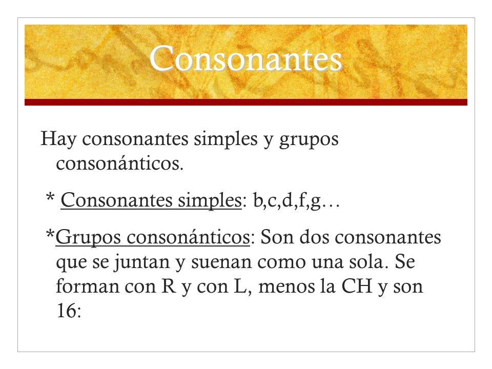 Consonantes