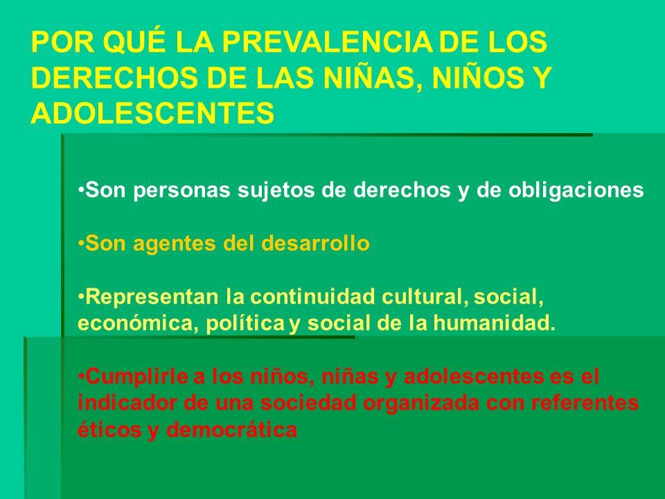 POR QUÉ LA PREVALENCIA DE LOS DERECHOS DE LAS NIÑAS, NIÑOS Y ADOLESCENTES
