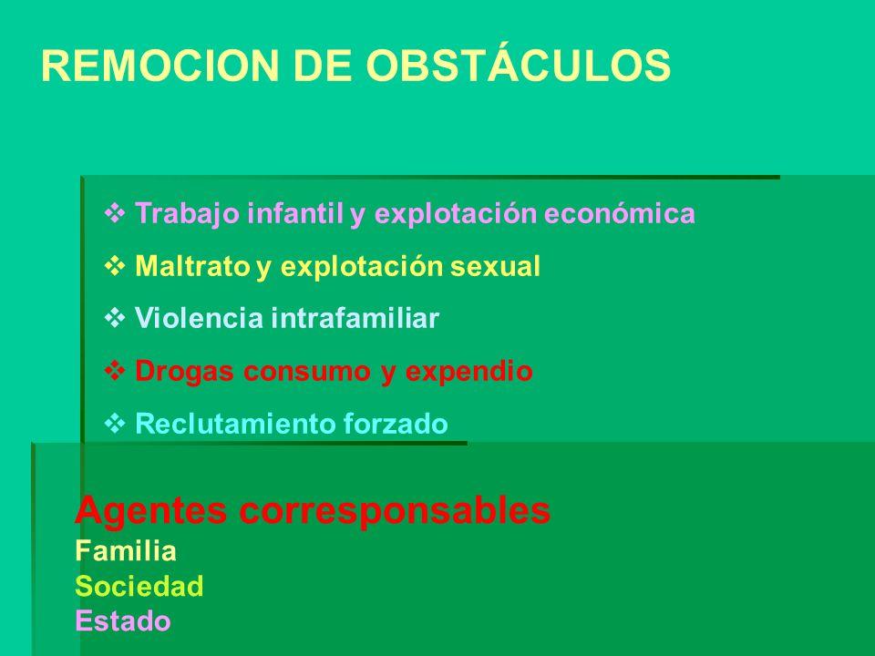 REMOCION DE OBSTÁCULOS