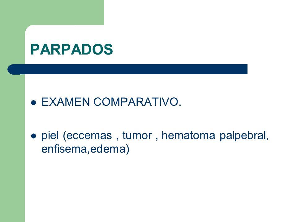 PARPADOS EXAMEN COMPARATIVO.