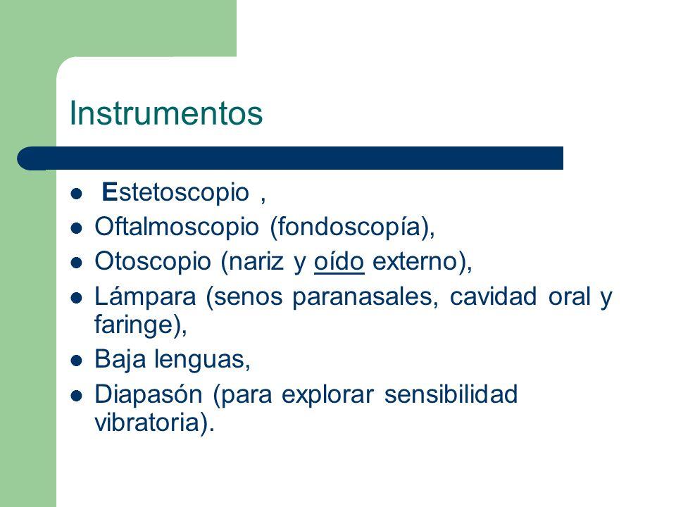Instrumentos Estetoscopio , Oftalmoscopio (fondoscopía),