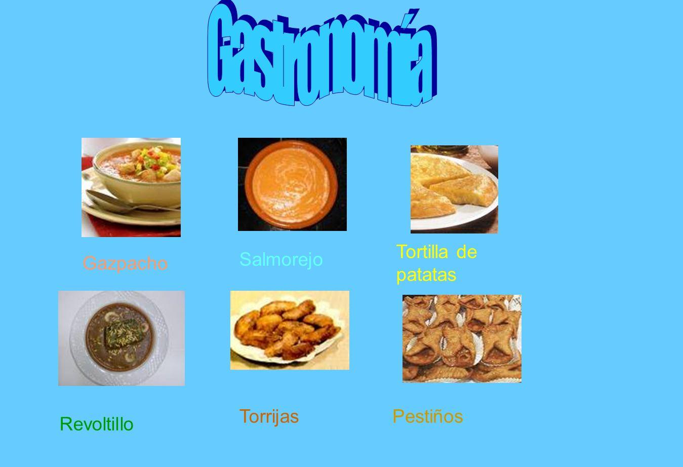 Gastronomía Tortilla de patatas Salmorejo Gazpacho Torrijas Pestiños