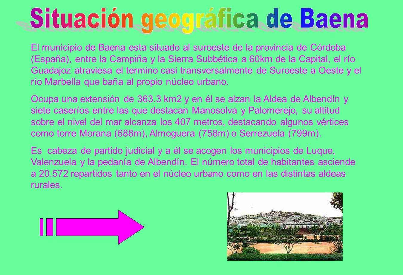 Situación geográfica de Baena