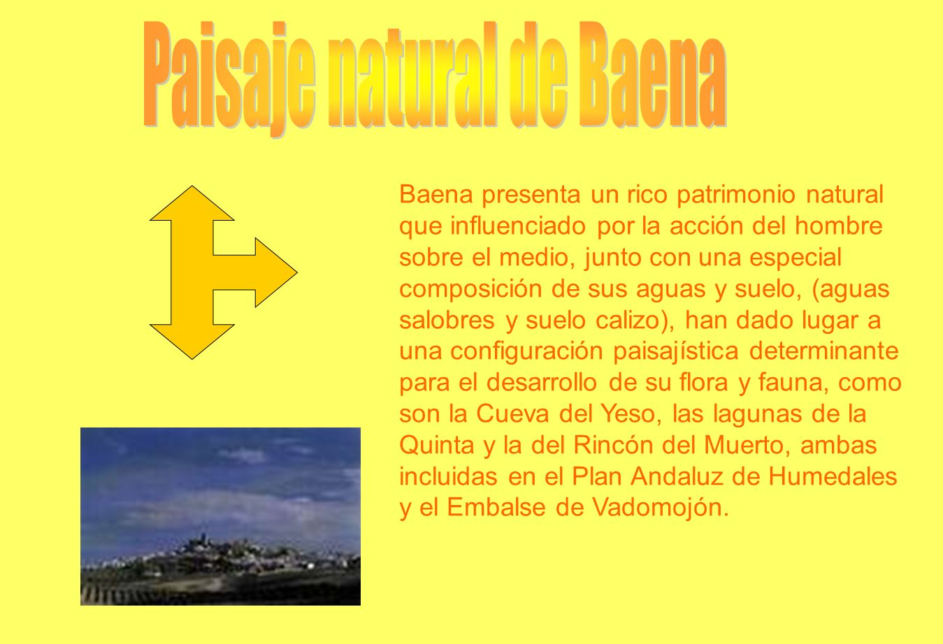 Paisaje natural de Baena