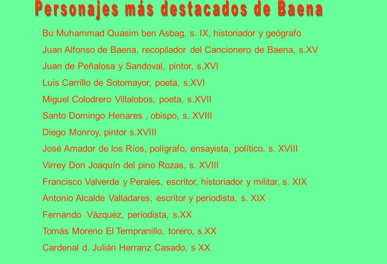 Personajes más destacados de Baena