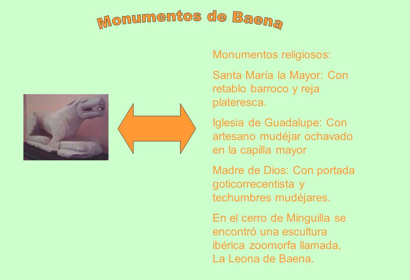 Monumentos de Baena Monumentos religiosos:
