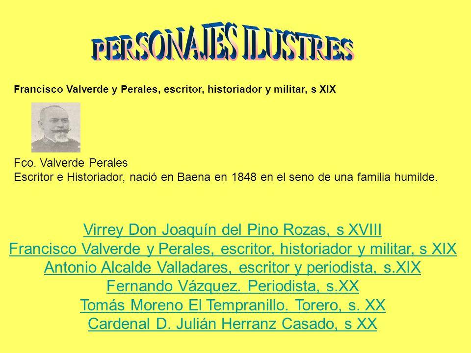 PERSONAJES ILUSTRES Virrey Don Joaquín del Pino Rozas, s XVIII