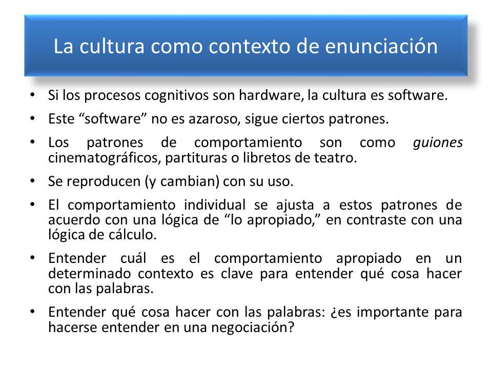 La cultura como contexto de enunciación