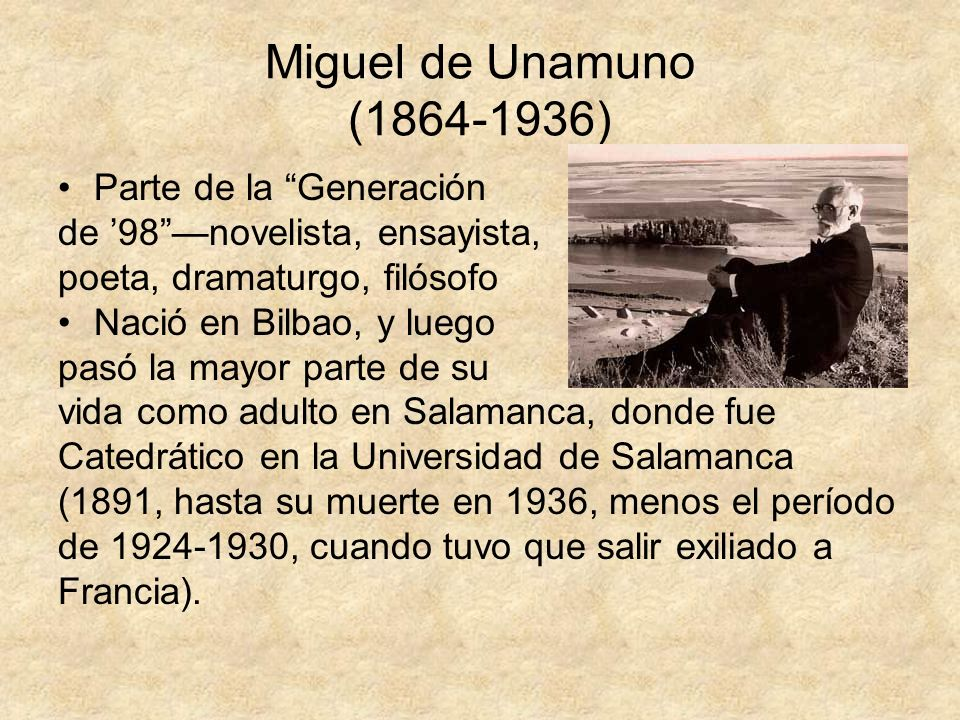 miguel de unamuno essay Miguel de unamuno was a spanish writer and philosopher who belonged to the   a wide range of literary genres such as novels, essays, theatre and poetry.