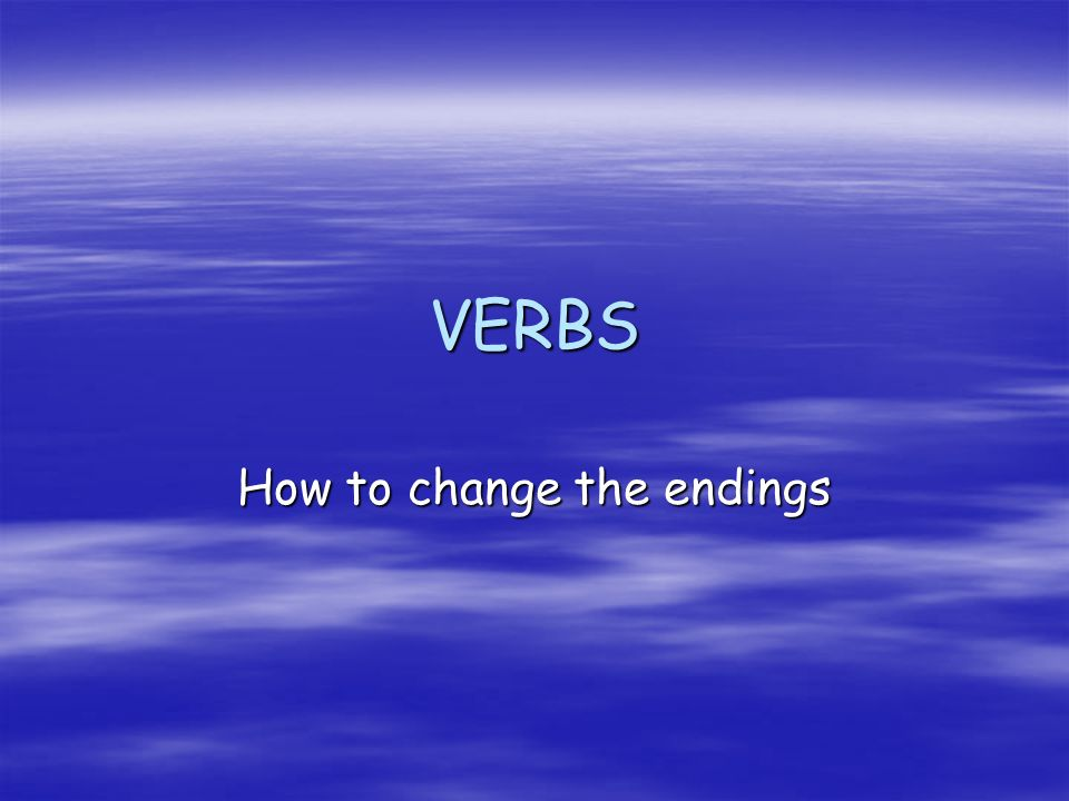 How to change the endings