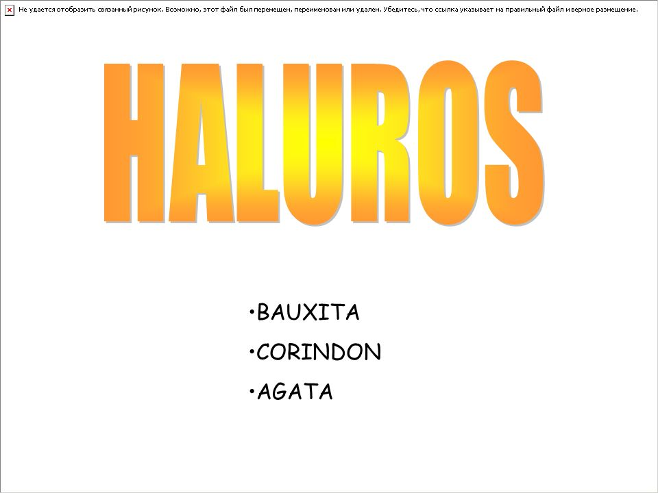 HALUROS BAUXITA CORINDON AGATA